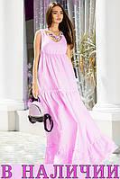 Легкое пляжное женское платье с юбкой воланами  Belly