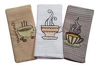 """Полотенце кухонное вафельное """"COFFEE"""" 50х35"""