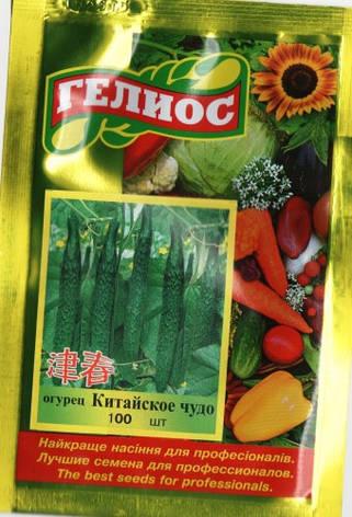 Насіння огірків бджолозапильних Китайське диво 100 шт., фото 2