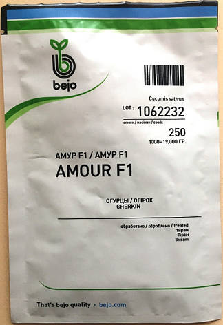 Семена огурцов  партенокарпических Амур F1 250 шт., фото 2