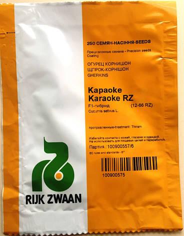 Семена огурцов  партенокарпических Караоке  F1 250 шт., фото 2