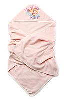 Детское полотенце махровое для купания (персик)