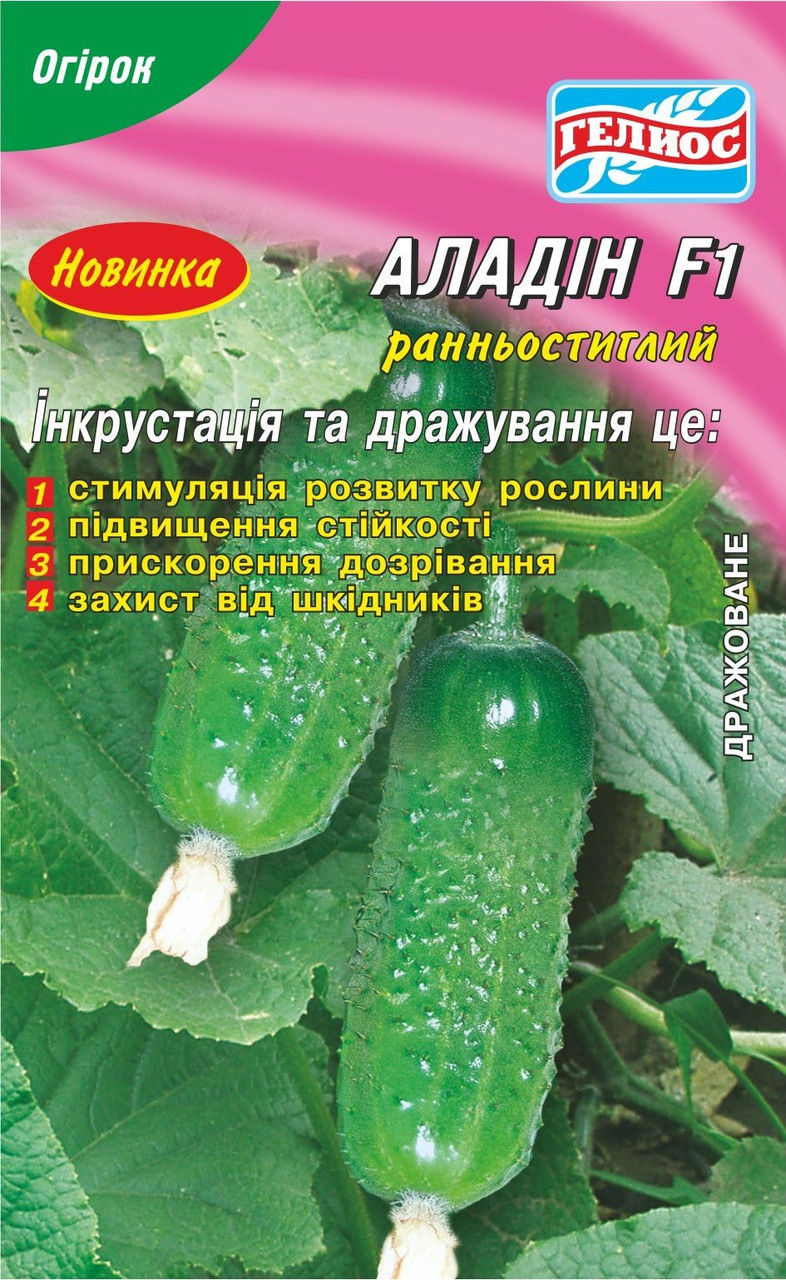Семена огурцов пчелоопыляемых Алладин F1 25 шт. Инк.