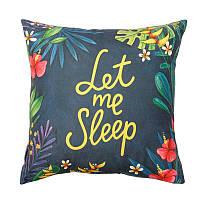"""Подушка """"Let me sleep"""" на подарок"""