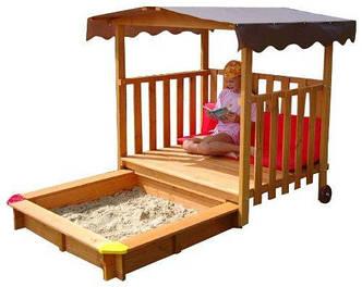 """Детская деревянная песочница - трансформер """"Песочница 19"""", фото 2"""