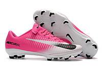 Футбольные бутсы Nike Mercurial Vapor XI FG Race Pink/Black/White, фото 1