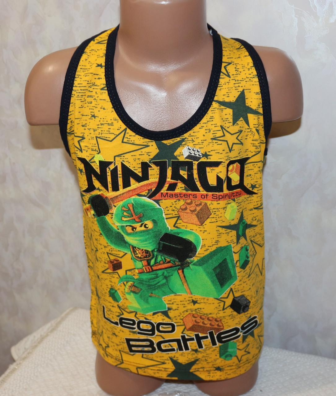 """Борцовка на мальчика """"Ninjago"""" 5,6,7,8 лет 100 % хлопок"""