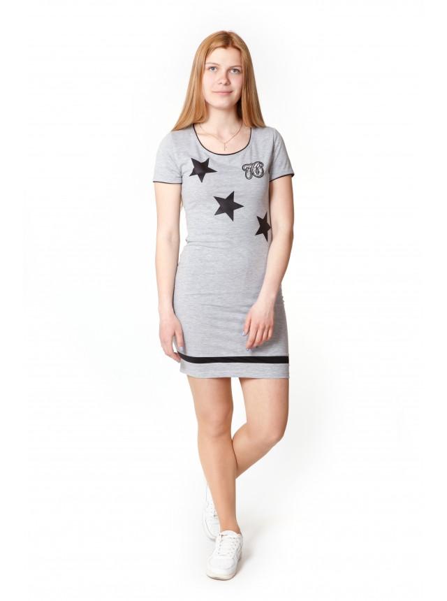 Платье - футболка порезы на спине