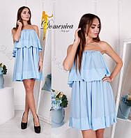 Платье  Ткань креп шифон вставки из шёлка армани  Размер единый С-М (21038)