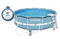 Каркасный бассейн сборный Prism Frame Intex 28700 (305*76 см) , фото 1