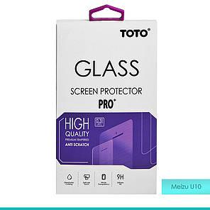 Защитное стекло TOTO Hardness Tempered Glass 0.33mm 2.5D 9H Meizu U10, фото 2