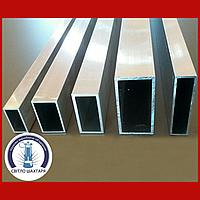 Труба алюминиевая 40х20х2 прямоугольная АД31 Т5, без покрытия, L=6000 мм