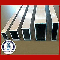 Труба алюминиевая 80х40х2 прямоугольная АД31 Т5, без покрытия, L=6000 мм
