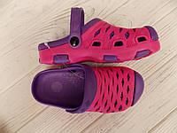 Детские шлепанцы, кроксы двухцветные для девочки 24-29 и 30-35 размер