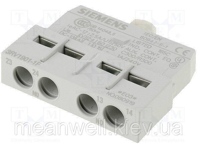 3RV1901-1F  Блок-контакт, фронтальный, 2НО