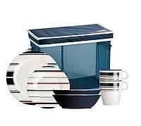MONACO набор посуды с нескользящей основой, 24 шт.