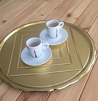 Поднос МЕДОРО пластик, круглый золото 40 см