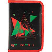 Пенал школьный Kite Geometric 621-6 1 отделение, 1 отворот, без наполнения