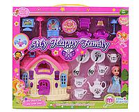 Домик c мебелью, куколкой и посудой | «My Happy Family»