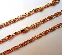 Цепочка на шею + браслет, плетение Улитка 60 см. 21см