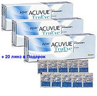 Купи 3уп (90линз) + 20 в Подарок 1 Day Acuvue TruEye, однодневные Контактные линзы