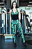 Комбинезон для фитнеса Geometric Green
