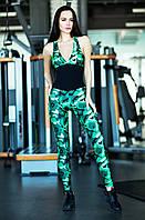 Комбинезон для фитнеса Geometric Green, фото 1