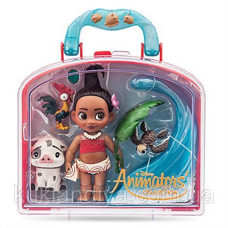 Кукла Моана мини аниматор в чемоданчике с аксессуарами