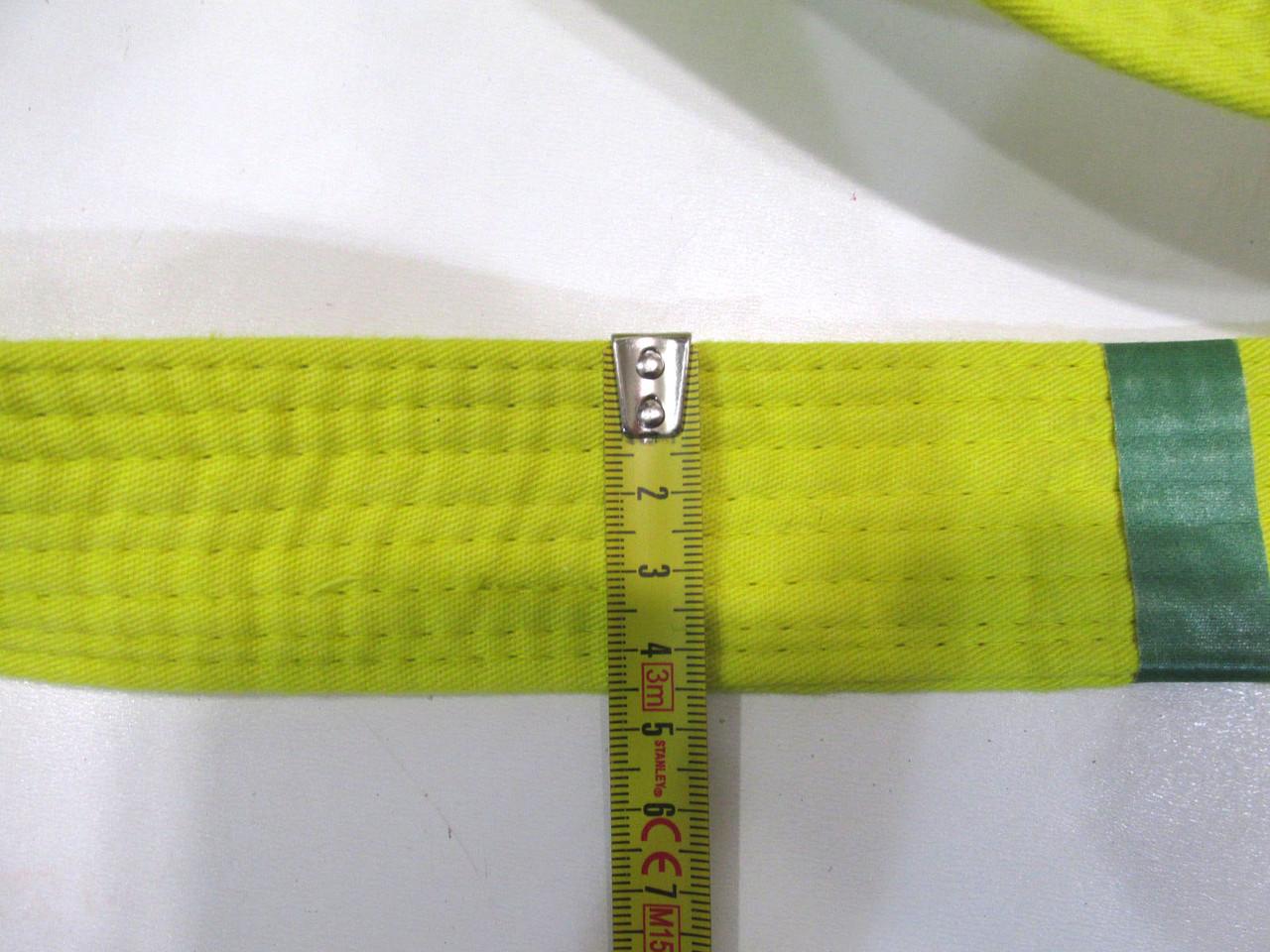 Пояс кимоно СIMAC, 246 см желтый, Уценка!