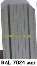 Металевий паркан напівкруглий і трапецевідний RAL 7024 матовий/грунт Європа 0,45 мм