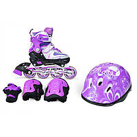 Роликовые коньки (ролики) Combo Happy все цвета + защита, размеры: 29-33, 34-38