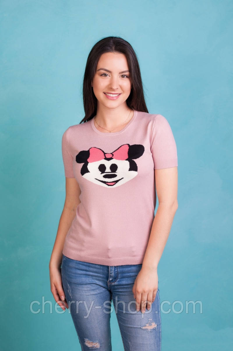 Женская футболка с Микки Маусом