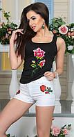 Ультрамодные женские шорты со высокой посадкой и аппликаций турецкий джинс Турция