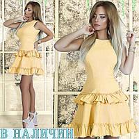 Симпатичное летнее платье с воланами на юбке Rosalina