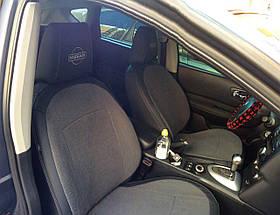 Чехлы на сиденья Nissan Qashqai 2006-2013 Комбинированные авточехлы экокожа