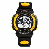 Спортивные часы черно-желтого цвета NT-88F