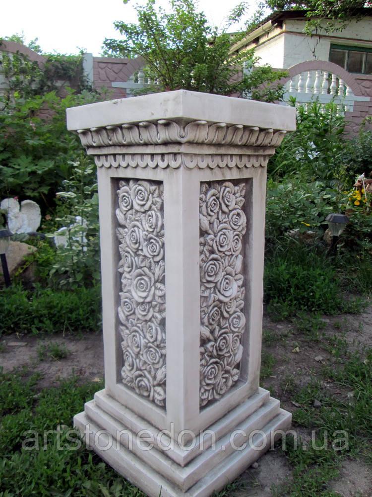 Колонна с розами фиброполимер 75 см