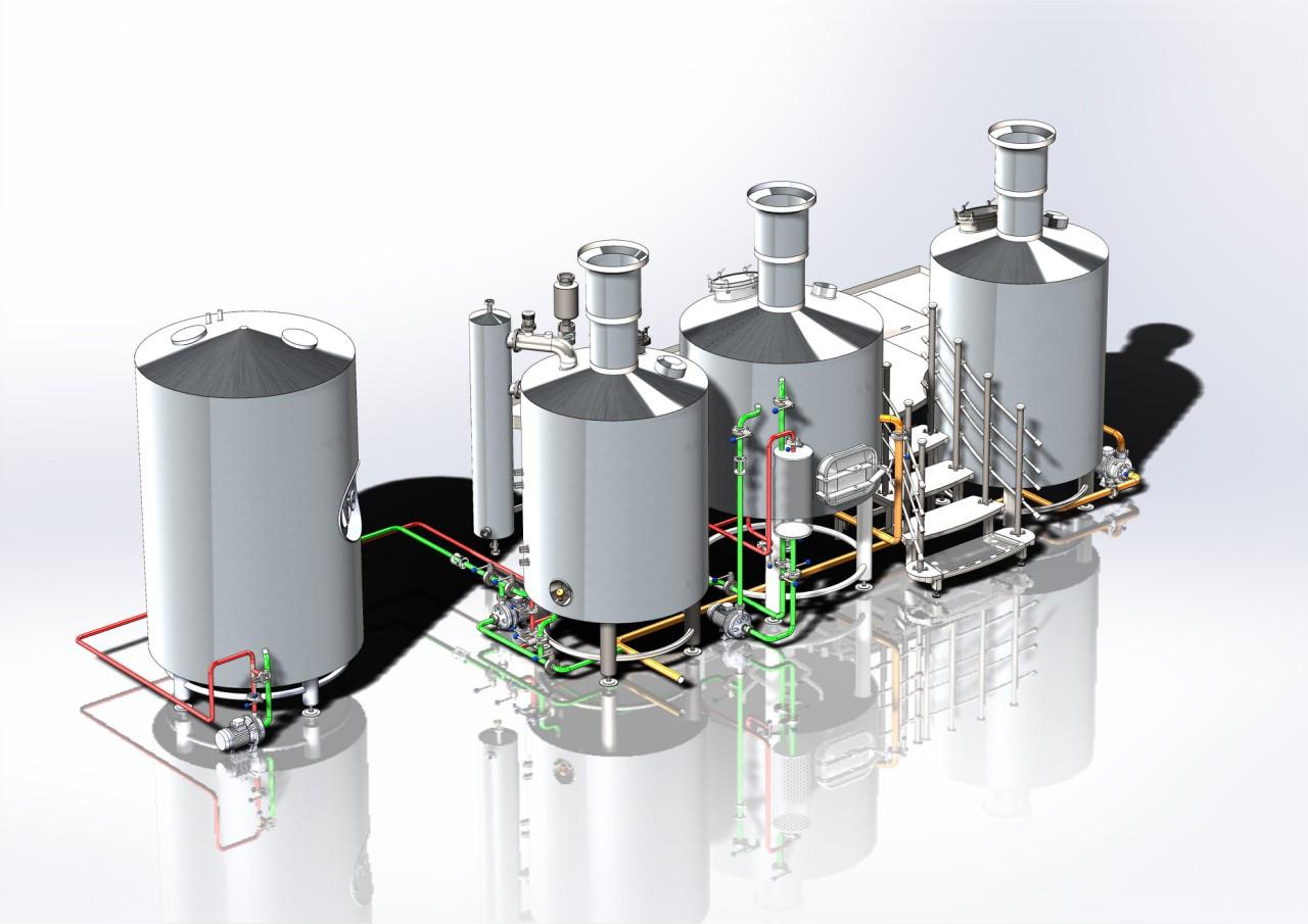 Пивоварня 500 л (мини пивоварня) - Stainless Steel Technolodgies LLC в Львове