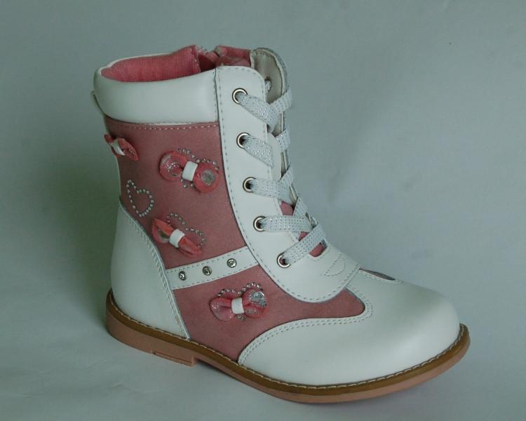 Демисезонные ботинки для девочек Шалунишка c бантиками 27 р.