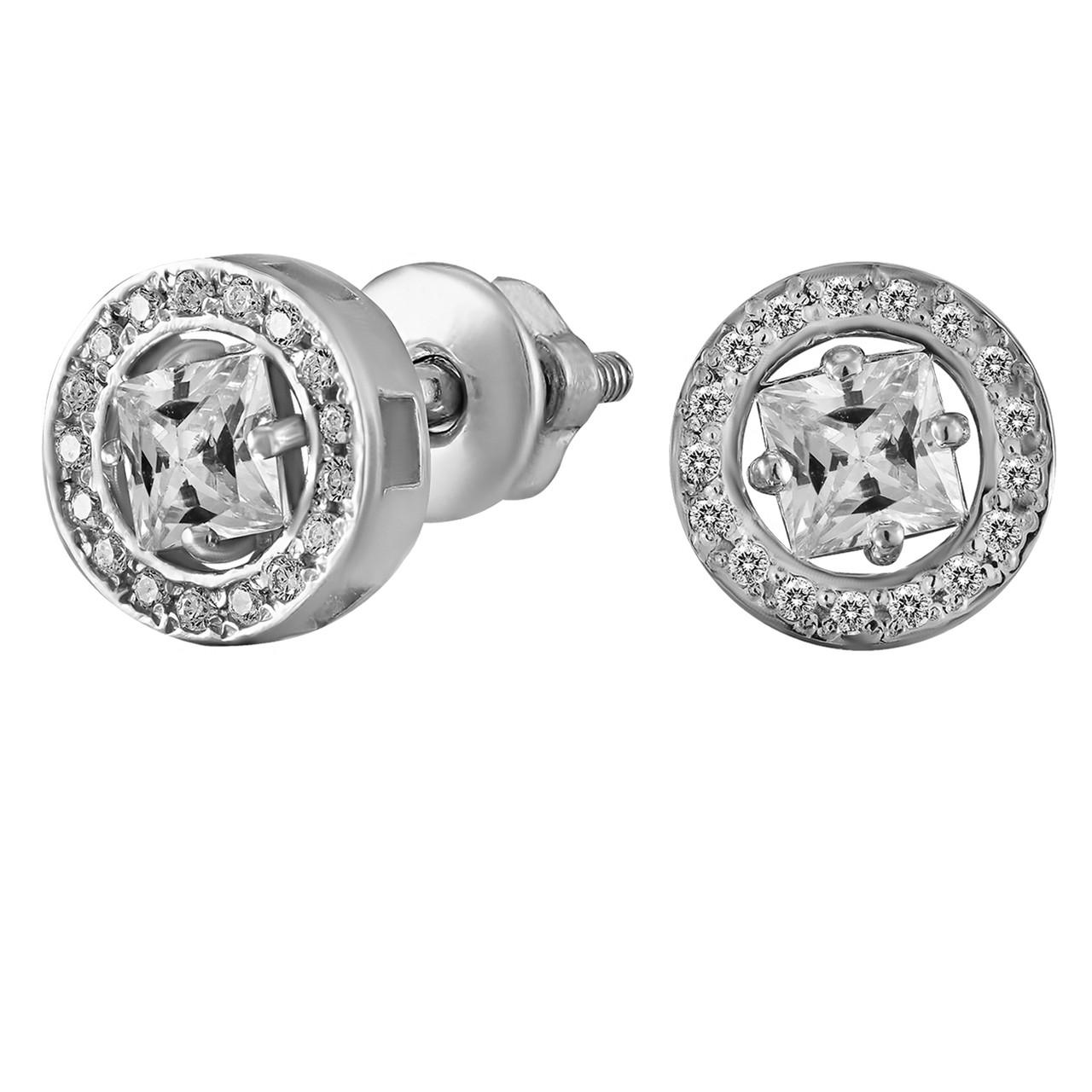 Серьги из серебра с куб. циркониями  178131