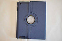 Поворотный 360° чехол-книжка для Apple iPad 2 / 3 / 4 (темно-синий цвет)