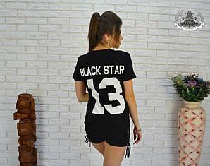 """Футболка спортивная с цифрой 13"""" Black Star """"  Ткань Турция : трикотаж"""