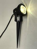 Светодиодный грунтовой линзованный светильник LM16 RGB 10W IP65 Код.58913, фото 3
