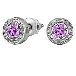 Сережки зі срібла з куб. цирконіями 178179