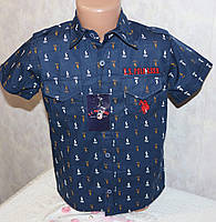 Стильная рубашка на мальчика 3-4, 5-6, 7-8, 9-10, 11-12 лет