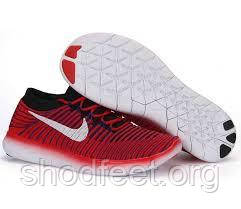 Кроссовки мужские Nike Free RN Motion Flyknit Red White