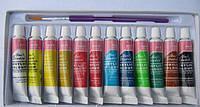 Ваsics Набор акриловых красок для рисования, 12 шт маленькие