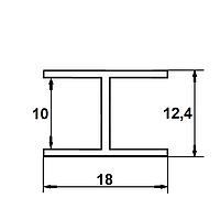 Алюминиевый профиль — двутавр алюминиевый 18х12,4х1