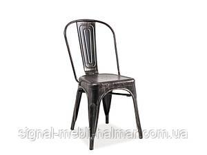 Купить кухонный стул Loft signal (черный потертый)