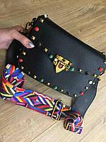 Ультрамодная сумка на цветном ремешке